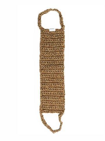 Мочалка для тела натуральная 60см, джутовая (из джута), для душа, банная Beauty365 (Бьюти 365)