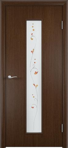 Дверь С-21 (венге, остекленная шпон файн-лайн), фабрика Верда