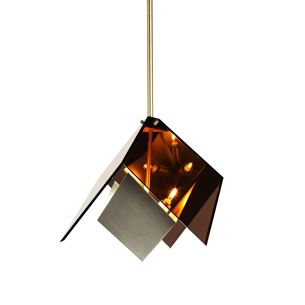 Подвесной светильник копия MAXEDRON by Roll & Hill (янтарный+серебряный)
