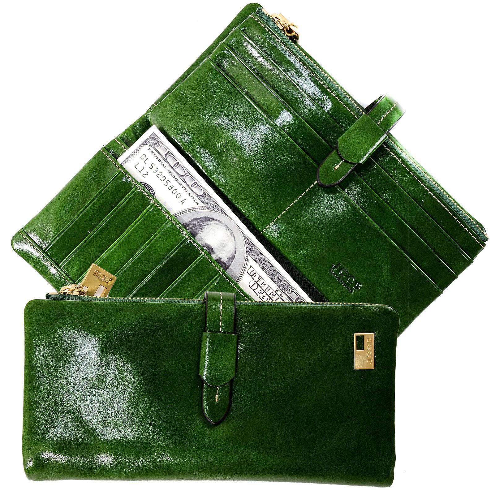женский зеленый кошелек JCCS j-1028