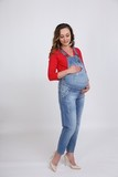 Комбинезон для беременных 09604 синий
