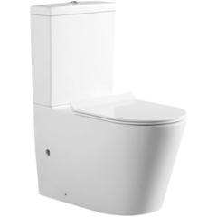 Унитаз напольный под бачок безободковый с сиденьем микролифт Aquanet Atago-C1 00203350 фото