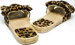 Обувь женская шлепанцы Small Swan mm26-5Leopard.