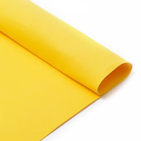 Фоамиран 1мм, 50*50 см, ярко-желтый