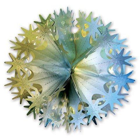 Фигура-Шар Звезды золото/серебро 30 см