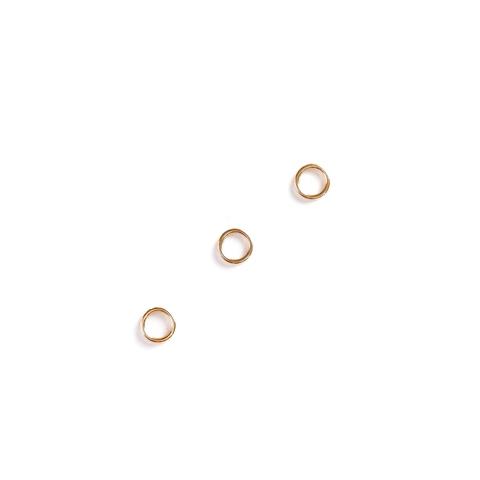 Кольцо для бретели желтое золото 6 мм (металл) luxe