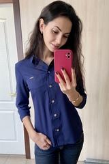 Льоля. Класична сорочка. Синій