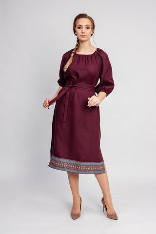 Платье в русском стиле Гранатовый браслет