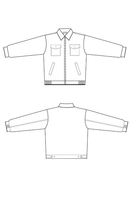 Выкройка рабочего костюма на молнии тех рисунок куртка