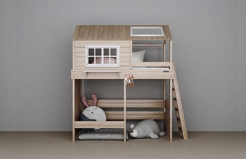 Кровать Домик-чердак