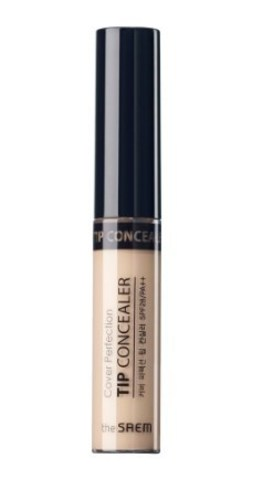 Консилер для лица The Saem Cover Perfection Tip Concealer SPF28/PA++, 01 Clear Beige, 6,5г