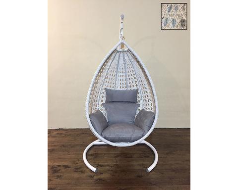 Подвесное кресло Олива выбеленное дерево