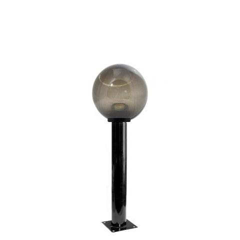 Садово-парковый светильник шар дымчатый призма D200mm с металлической опорой H600mm