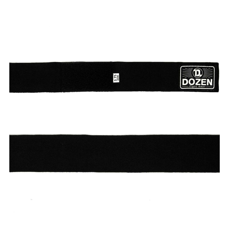 Бинты черные Dozen Monochrome Semi-elastic вид ленты