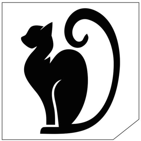 Трафарет для блеск-тату 6*6 кошка 131К
