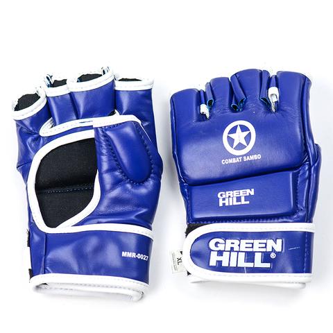 Перчатки Combat Sambo Green Hill синие