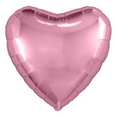 Аг 9''/23см, Мини-сердце, Розовый фламинго, / 5 шт. /