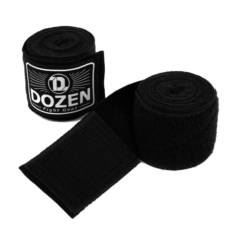 Бинты черные Dozen Monochrome Semi-elastic вид липучка