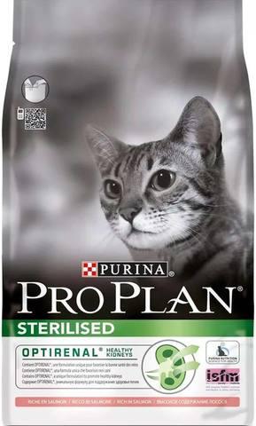 10 кг. PURINA PRO PLAN Сухой корм для стерилизованных кошек с лососем Sterilised Salmon