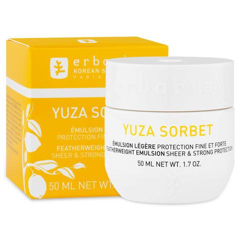 Erborian Юзу сорбет увлажняющая защитная дневная эмульсия Yuza Sorbet Featherweight Emulsion Sheer & Strong Protection
