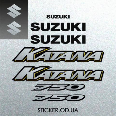 Набор наклеек на мотоцикл SUZUKI GSX-F 750 KATANA 2005