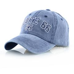 Route 66 бейсболка из денима (Джинсовая кепка Рут 66) голубая