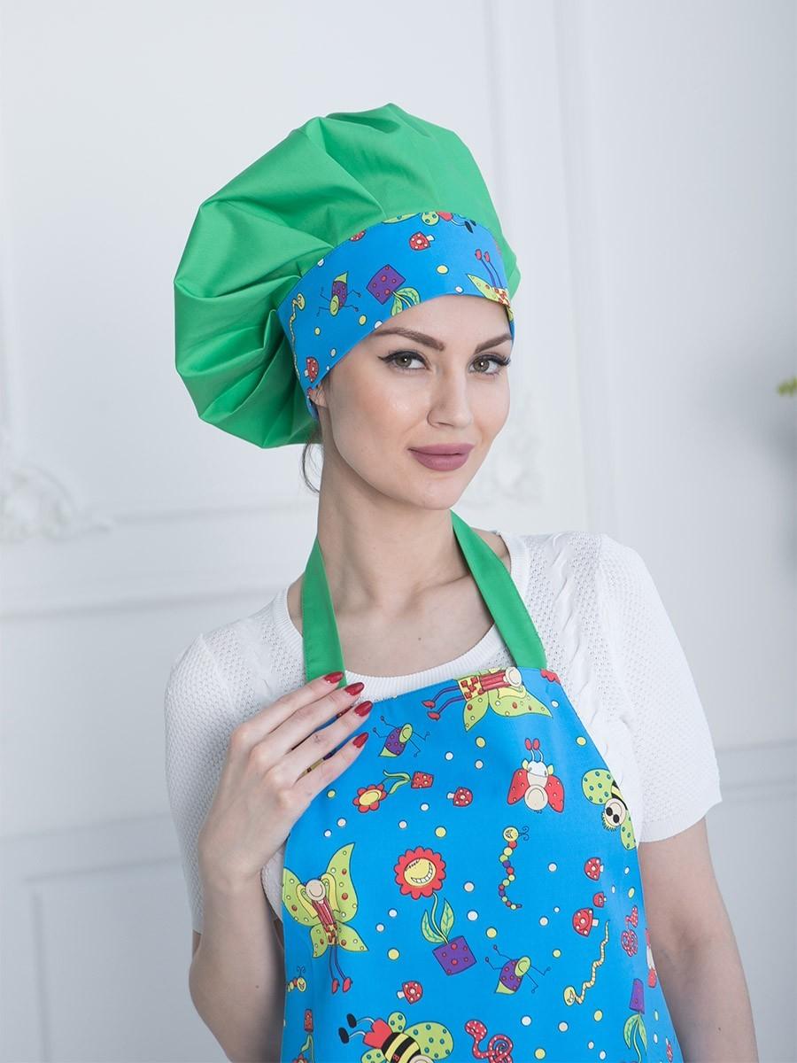 Купить зеленый поварской колпак в интернет магазине MediS.moda