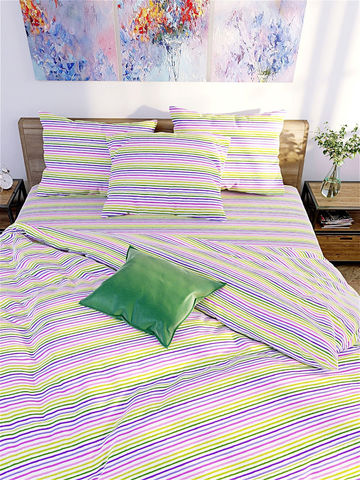 Пододеяльник  -Яркая полоска- 1,5-спальный на молнии 145х215 см
