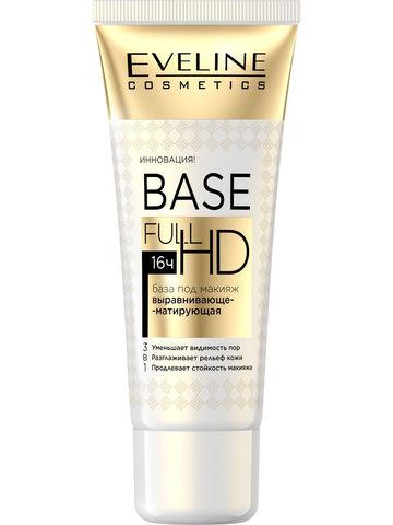 EVELINE База под макияж выравнивающе-матирующая 3в1 серии BASE FULL HD, 30мл
