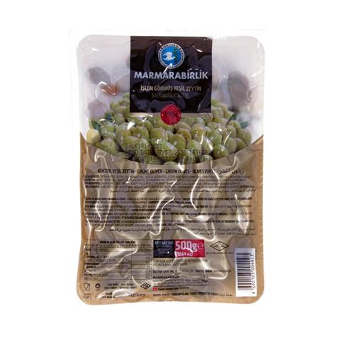 Оливки с косточкой коктейльные (2XL) MARMARABIRLIK, 500 гр