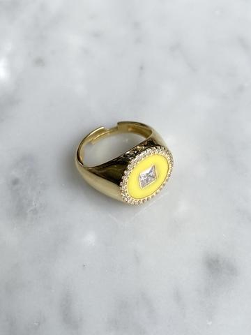 Кольцо Сайн желтое, позолота