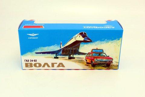 Box GAZ-24-02 Volga Escort Aeroflot 1:43 Made in USSR reprint Agat Tantal