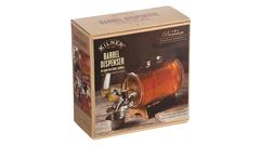 Диспенсер для напитков «Бочонок» 1 л. на деревянной подставке, фото 1