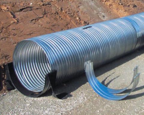 СТУ-В: теплогидроизоляционная конструкция, закрытая волнистыми обечайками из оцинкованного железа или алюминия