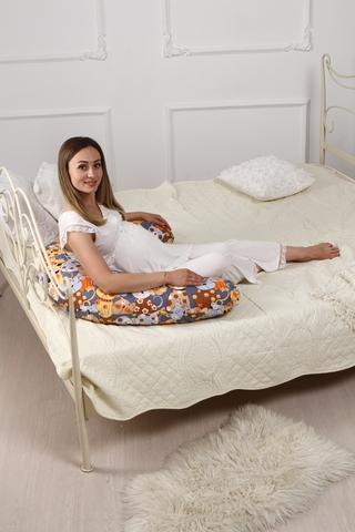Подушка для беременных C190 (холлофайбер) 10550 котики