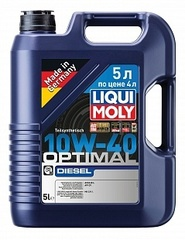 Моторное масло LIQUI MOLY Optimal Diesel 10W-40 5 л по цене 4