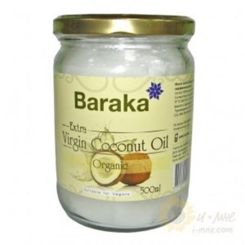 Кокос.масло Вирджин BARAKA Organic Био нераф.500мл ст.