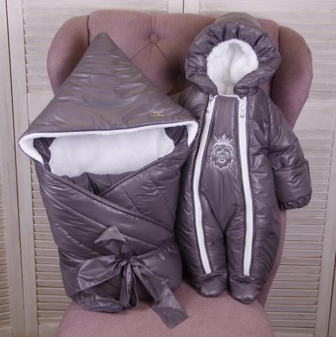 Зимний комплект на выписку для новорожденных Finland хамелеон