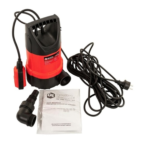 Дренажный насос QUATTRO ELEMENTI Drenaggio  300 (300 Вт, 5000 л/ч, для чистой,  6 м, 4,4кг)