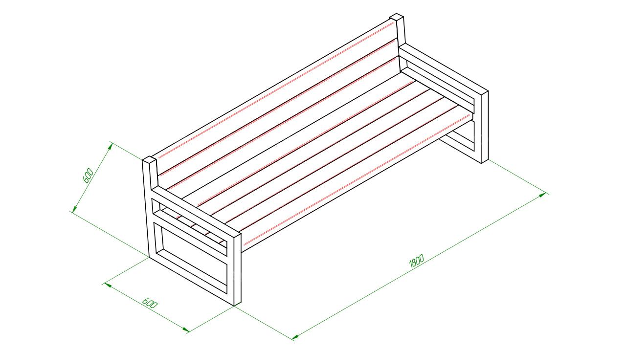 Скамейка диван SCAM0064