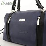 Сумка Саломея 127 итальянский синий + черный