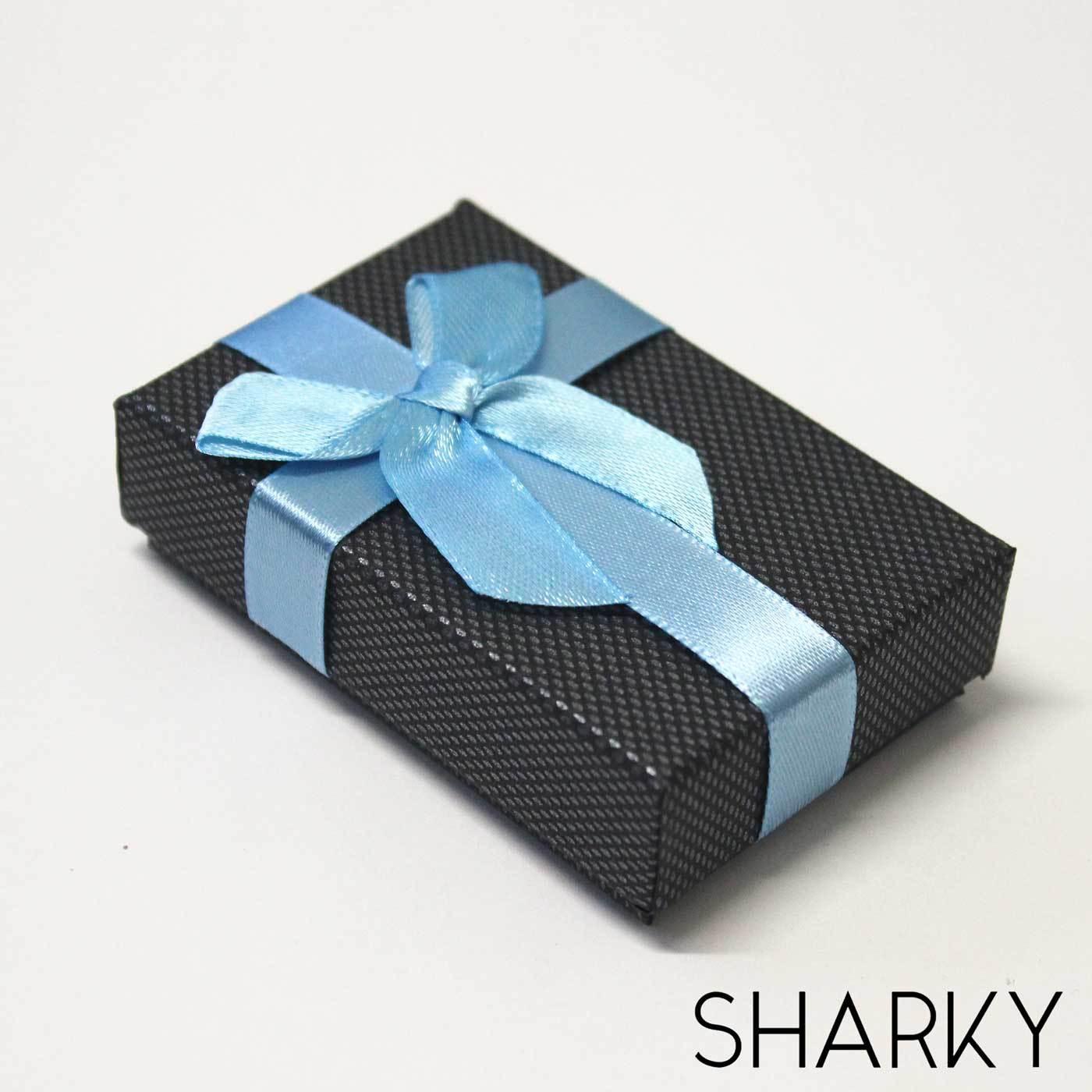 Коробочка подарочная с синим бантом / Подарочная упаковка Отрадное
