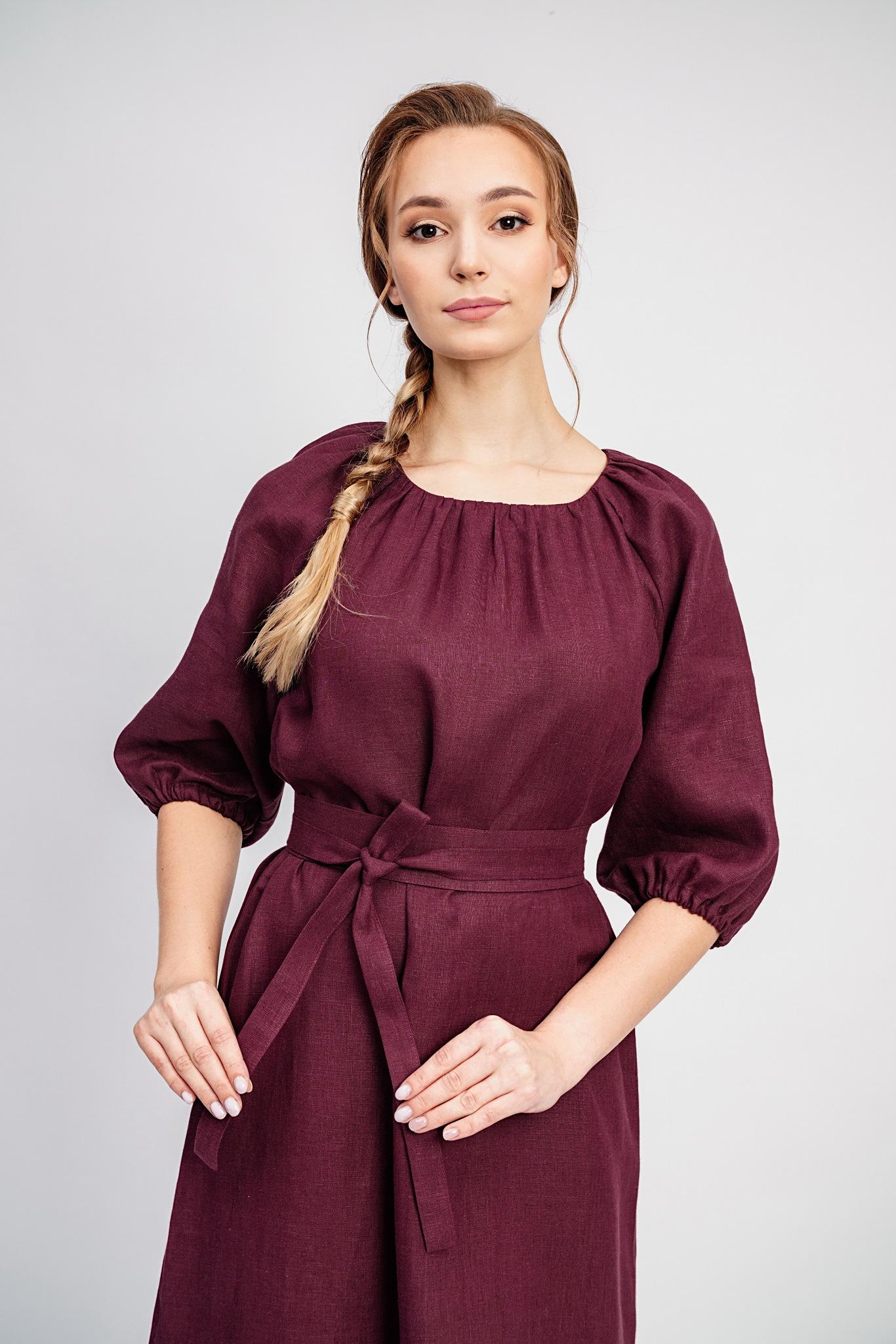 Нарядное платье на праздник Гранатовый браслет