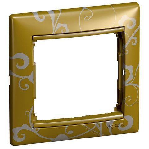 Рамка на 1 пост. Цвет Золото барокко. Legrand Valena Classic (Легранд Валена Классик). 770020