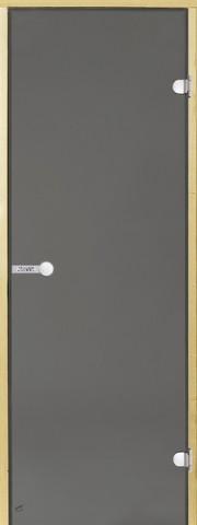 Дверь стеклянная Harvia 7х19, коробка сосна, стекло серое, артикул D71902M