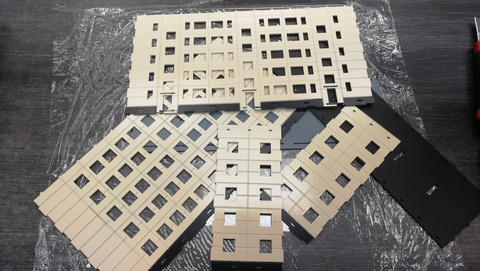 Типовой панельный дом 5-этажный 3 подъезда 1/87 НО ПД-003