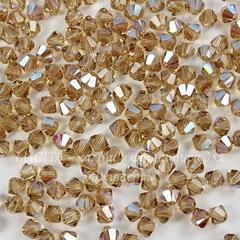 5328 Бусина - биконус Сваровски Light Colorado Topaz Shimmer 4 мм, 10 штук