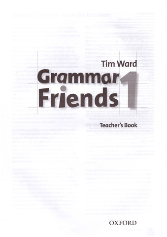 Grammar Friends 1: Teacher's Book