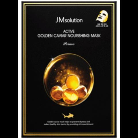 Питательная тканевая маска с экстрактами икры и золота JM Solution Active Golden Caviar Nourishing Mask Prime