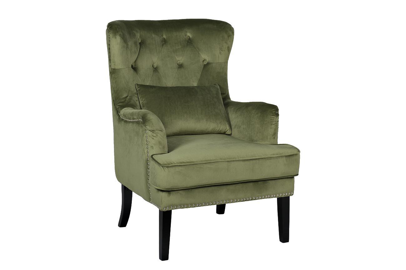 Кресло велюровое светло-зеленое (с подушкой) (24YJ-7004-040) Garda Decor